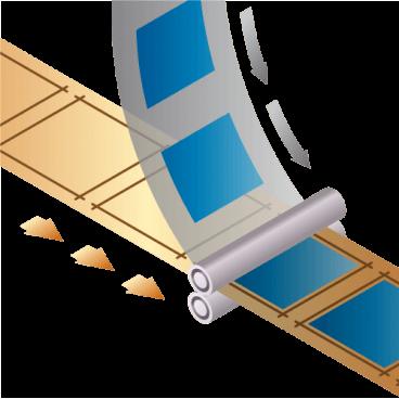 ロールタイプ位置合わせ機能付きラミネート装置