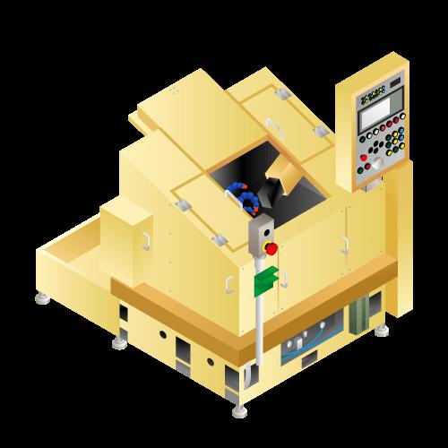 ピストンリング溝加工機