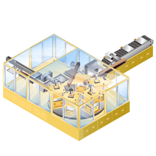 リチウムイオン等二次電池用 ラミネート三方ヒートシール装置