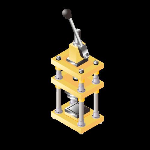 少量生産向きリチウムイオン等二次電池用 ラミネート外形打抜き機