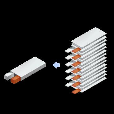 少量生産向きリチウムイオン等二次電池用 積層機