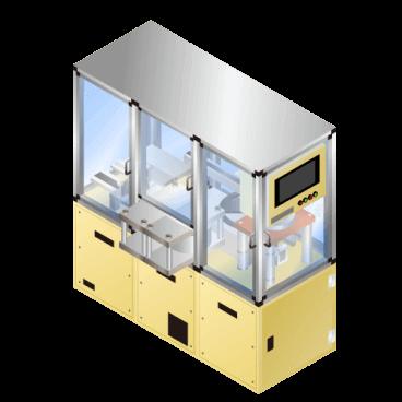 円筒型(18650)リチウムイオン等二次電池用スウェージング装置